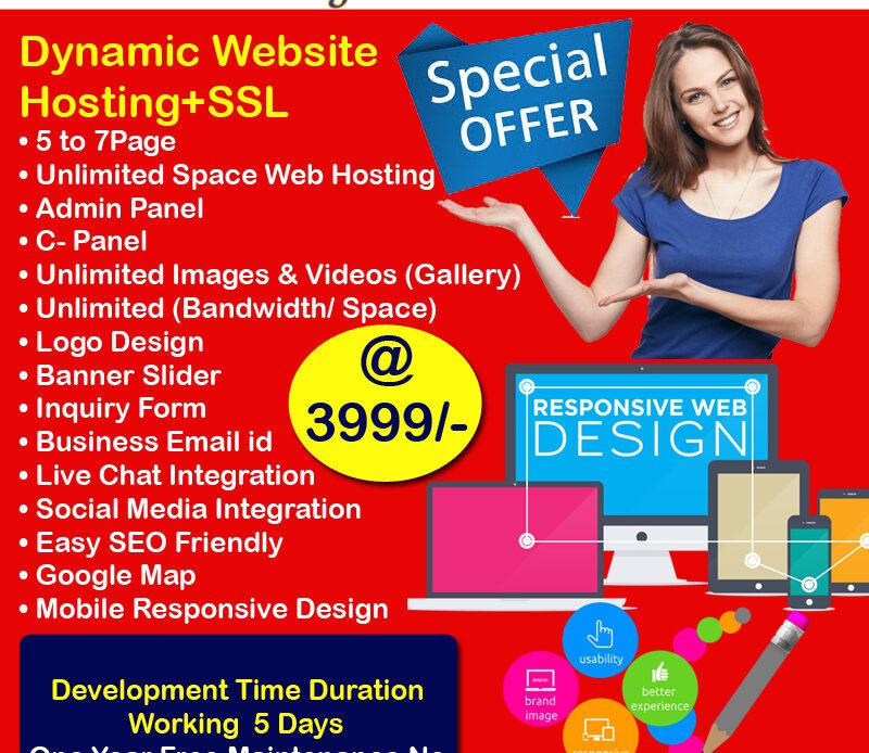 Best Attractive Website Development  Just Rs.3999/- Only